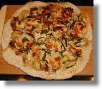 Homemade Pizza Artichoke Sun-Dried Tomato Mushroom Garlic Original Recipe